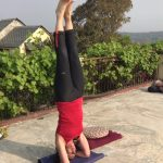 Sharon doing headstand