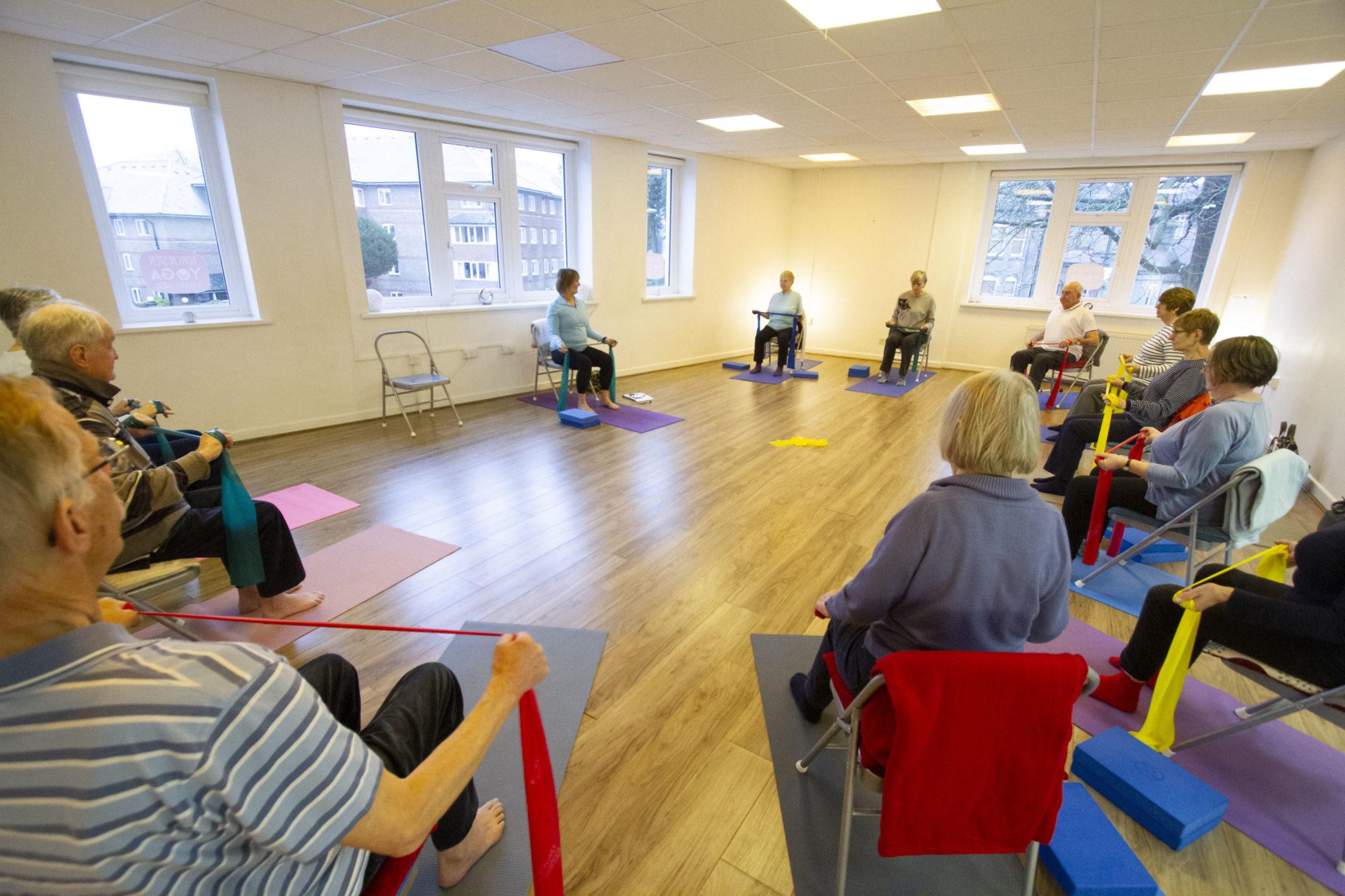 Yoga class with Sandy Tubby