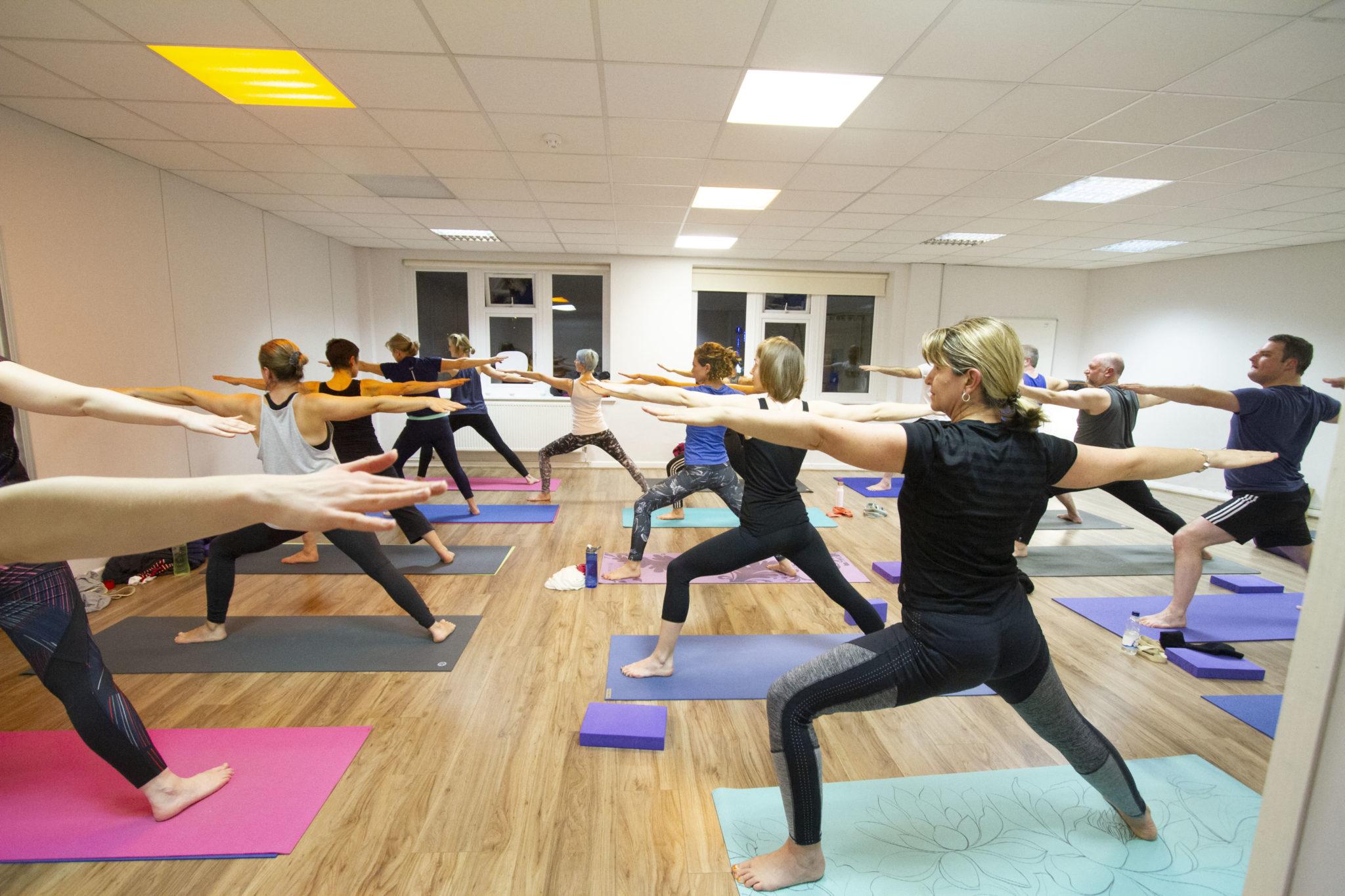 Yoga class with Kim Mackie
