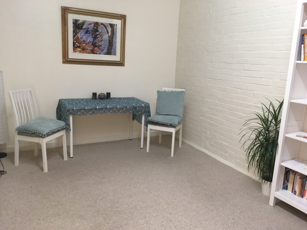 Dorchester Yoga and Therapy Centre treatment room