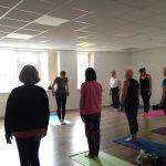 International Yoga Day yoga class