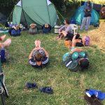 campsite yoga picture