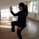 Lady doing yoga movements
