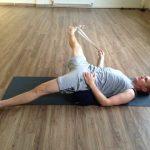 Leg sideways stretch photo